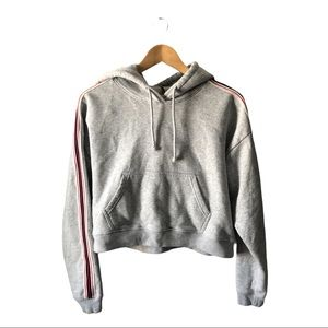 ARITZIA TNA Iconic Hoodie Cropped Striped